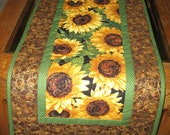 Sunflower Table Runner Quilted fabric from Timeless Treasures