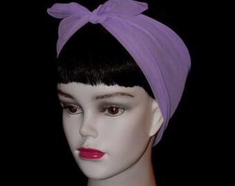 Light Purple Rockabilly 50's Style Hair n' Neck Chiffon Scarf