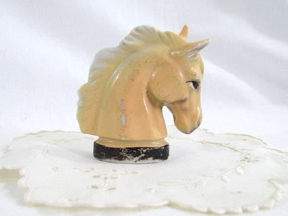 RESERVED for Steph Vintage Horse Figurine Head Porcelain