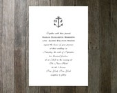 Printable Wedding Invitation - Simple Anchor