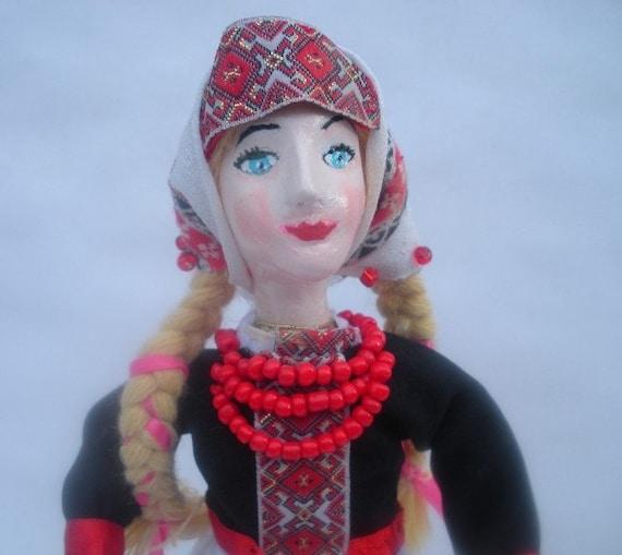 Ukrainian Art doll in Traditional Costume of Western Ukraine