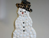Mosaic Snowman Ornament