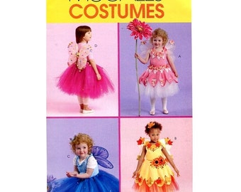 UNCUT OOP McCall's 305 or 5950 No Sew Toddler's and Children Fairy Costume Sewing Pattern In Sizes 1-2-3 With Factory Folds