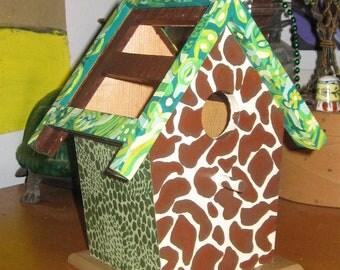 On Safari Decorative Birdhouse