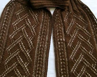 Knit Scarf Pattern:  Flemish Turtleneck Scarf Knitting Pattern