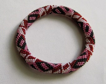 Bead Crochet Pattern:  Shapes Bead Crochet Bangle Pattern