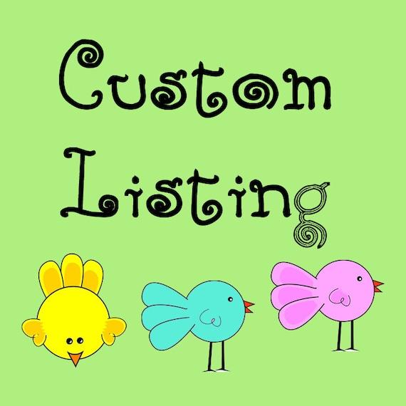 Custom Listing For khansr50