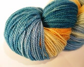 Hand dyed sock yarn, sw merino - Tide Pool