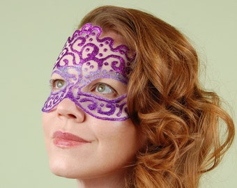 SHEER MASK- Purple Trio- masquerade mask, Mardi Gras, tattoo, ballroom, fairy,Venetian, Halloween