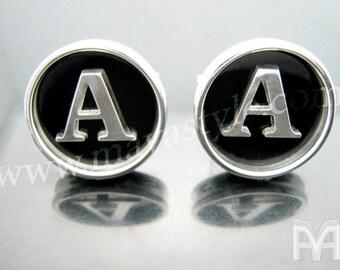 Sterling Silver Initial Cufflinks