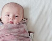Baby Swaddling Blanket, the Cadara Bu, in Midnight Rider by Tickety Bu