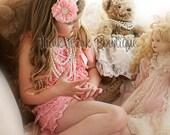 SALE! Petti lace romper, coral pink lace romper,Baby girl Petti Romper, Petti Romper, Lace Romper, Romper,Baby lace romper, Easter outfit.