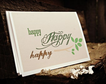 Happy Happy Happy Note Card Set