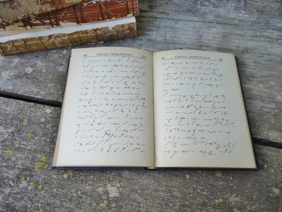Antique Shorthand Book - Office Transcription - Gregg Shorthand - 1936