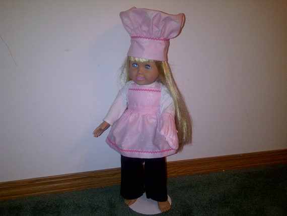 18 inch doll clothing pink apron