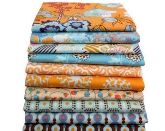 Half Yard Bundle - Summerlove Blue Crush Palette by Patricia Bravo - Art Gallery Fabrics - 9 Pcs