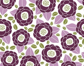 Aviary 2 by Joel Dewberry - Bloom in Lilac JD45 - Free Spirit Fabric - By the Yard