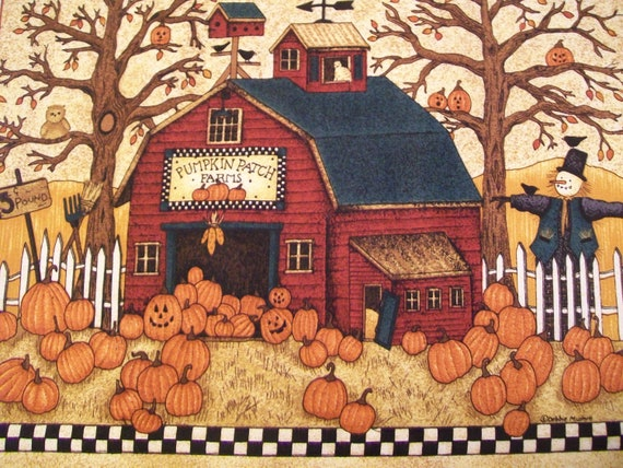 Debbie Mumm Autumn Wallhanging - Pumpkin Patch Farms Fall Festival