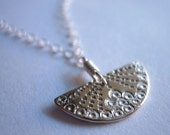 Little Japanese Fan Sterling Silver Necklace