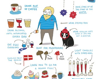 How to be Swedish - Art print - sweden - by messy my