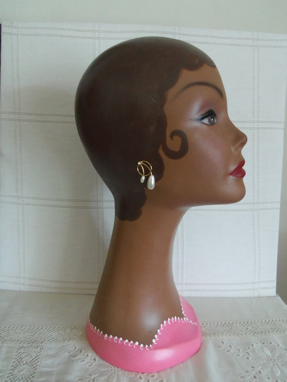 Mannequin Head-Bust-Hats and Jewelry Fun-Hand Painted