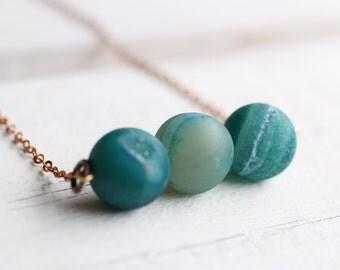 Agate Planet Necklace ... Turquoise Teal Star Crystal Gemstone Druzy Ocean Mermaid Seafoam