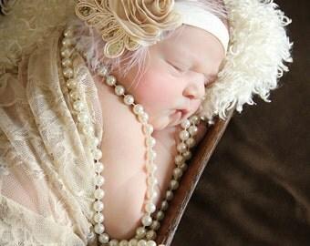 Shop BEST Seller, Baby headband, newborn headband, adult headband, photography prop The single sprinkled- SMALL LEAF rosie headband