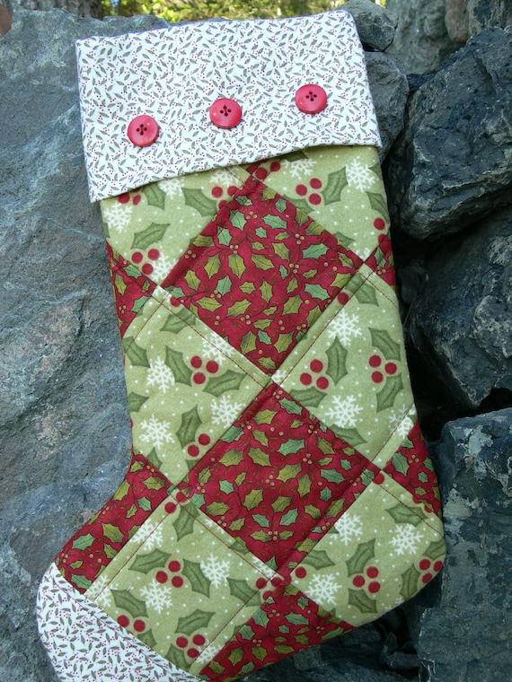 Quilted Christmas Stocking Using Flannel