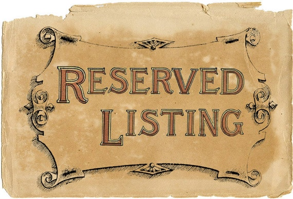 RESERVED Listing for Iris