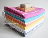 Free Shipment SET 6 Piece Turkish BATH Towel - Classic Peshtemal - White - Dark gray - Pink - Yellow - Blue - Orange