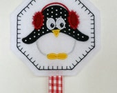 Penguin Hair Bow and Clippie Organizer