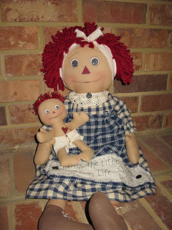 Raggedy Mama and baby Raggedy