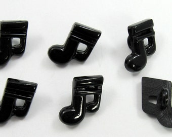Black Music Note Buttons