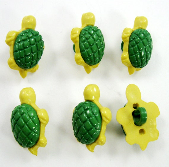 Turtle Buttons Set of Six