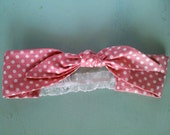 Retro Headband in Polka-Pink