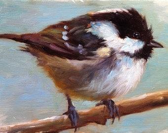 Coal Tit - Bird Painting - Open Edition Print