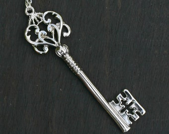 Steampunk Skeleton Key Necklace