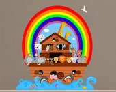 Noahs Ark Animals Wall Decal Sticker (Reusable Fabric) - KS