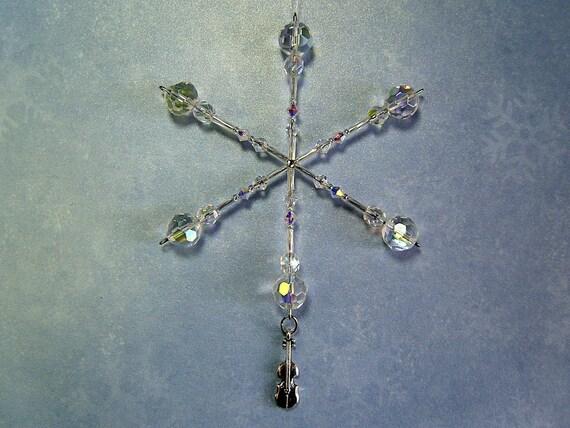 Violin ornament / snowflake / lightcatcher