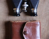 Antique 50's Ofuna opera glasses/binoculars with original Leather case, made in Japan - mountainmantrading