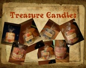 Custom Treasure Candles - beautiful highly scented candles hand poured containing jewelry, gems, diamonds, 3 different treasures per candle