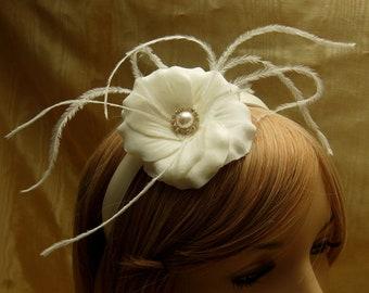 Bridal flower fascinator,FallFlower fascinator,Holiday wedding Flower  fascinator,costume fascinator,bridal headpiece,costume headpiece