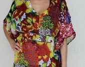 La Leela Amazing floral printed Kaftan caftan cover up tunic