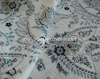"Japanese floral print Crinkle cotton fabric, half yard by 44"" wide"