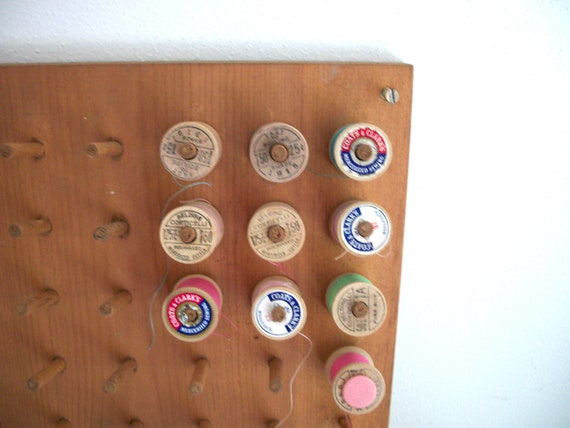 Vintage Spool of Thread Holder Organizer