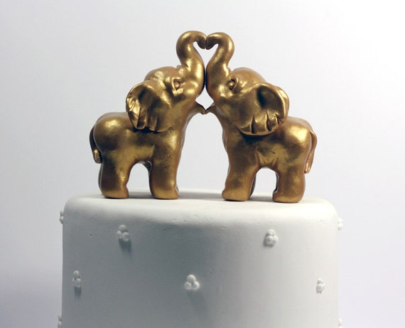 gold elephant wedding cake topper gold indian elephant wedding cake toppers by republicofcute 14752