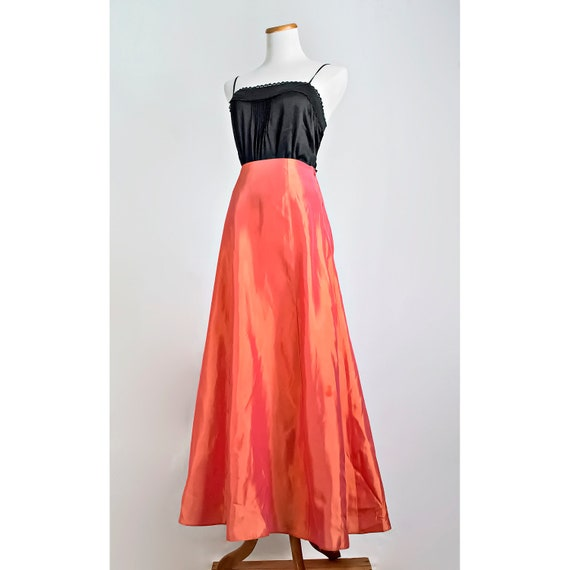 formal satin maxi skirt vintage 90s by