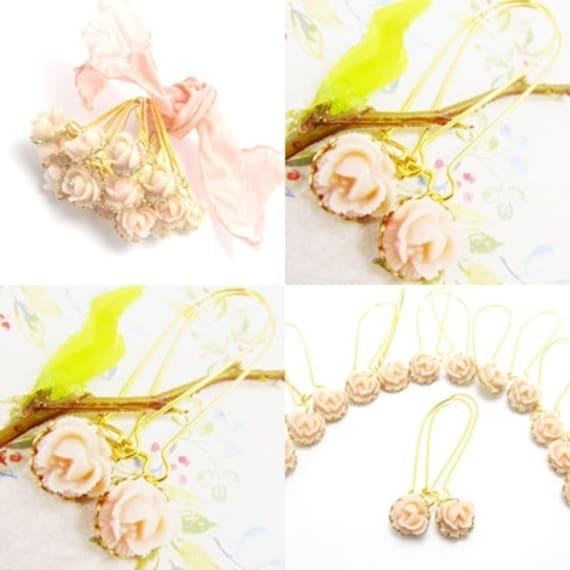 Lovely Rose LONG  Earrings