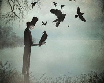 The magician and his crows - Art print (3 different sizes)