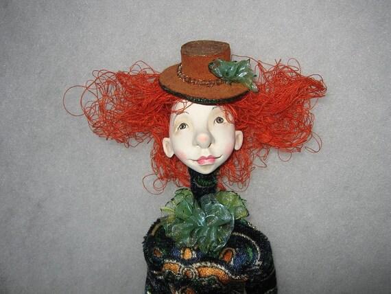 Elea  Art doll  Paper clay doll  OOAK doll  Handmade art doll